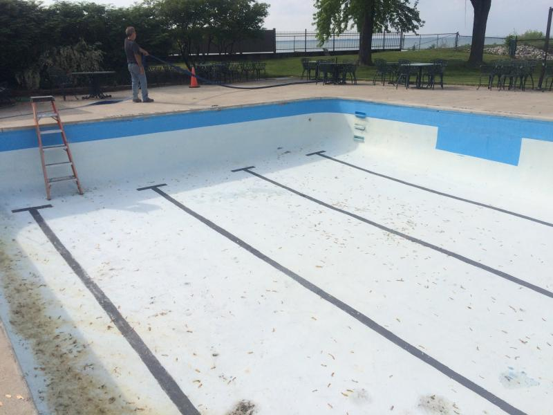 Outdoor Private Club Cement Pool (BEFORE)