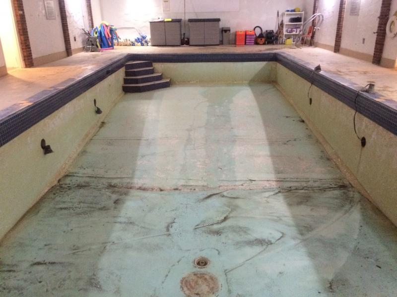Commercial Concrete Pool (Before)